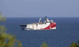 Oruc Reis: Με κλειστό πομπό και πορεία προς το Καστελόριζο το τουρκικό ερευνητικό πλοίο