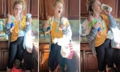 """Τα 8 της αδέρφια την ενέπνευσαν να ντυθεί """"κουρασμένη μαμά"""""""