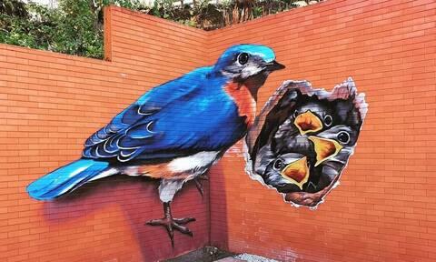Τα 3D γκράφιτι που θα σε κάνουν να «σκαλώσεις» (vid+pics)