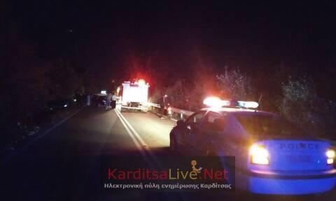 Σοβαρό τροχαίο με δύο τραυματίες στον δρόμο Καρδίτσας - Τρικάλων