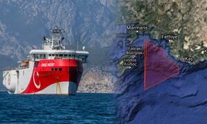 Oruc Reis: Η Ελλάδα απαντά με αντιNavtex στην τουρκική Navtex σε Ρόδο και Καστελόριζο