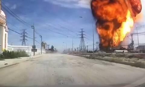 Έκρηξη σε εργοστάσιο δημιούργησε πύρινη μπάλα 30 μέτρων!