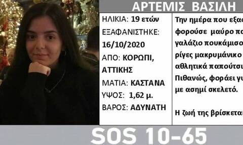 Θρίλερ με την εξαφάνιση της 19χρονης Άρτεμις -  Πού εντοπίστηκε το τελευταίο στίγμα του κινητού