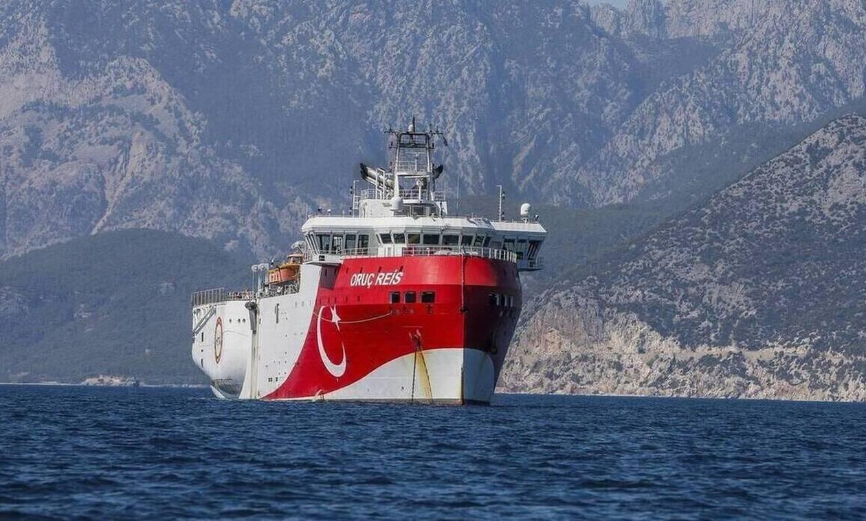 Oruc Reis: «Πόλεμος νεύρων» μεταξύ Ρόδου και Καστελόριζου - «Σαρώνει» την ανατολική Μεσόγειο
