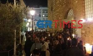 Θεσσαλονίκη: Απίστευτες εικόνες έξω από τον ναό του Αγίου Δημητρίου - Ουρές κόσμου για προσκύνημα