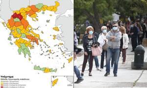 Κορονοϊός στην Ελλάδα: Ο χάρτης υγειονομικής ασφάλειας
