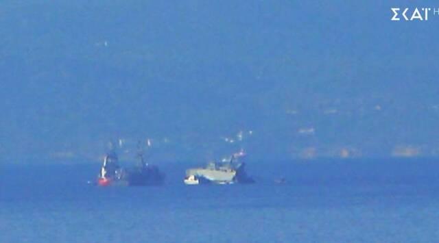Πλοίο του Πολεμικού Ναυτικού συγκρούστηκε με εμπορικό