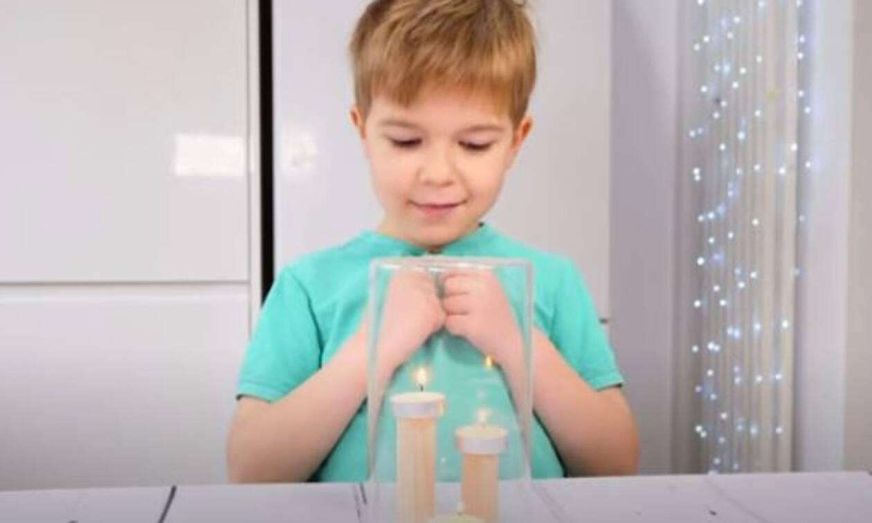 Το πείραμα με τα κεράκια που θα εκπλήξει τα παιδιά (vid)