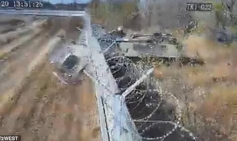 Μεθυσμένοι στρατιώτες έριξαν τανκ σε τοίχο! (video)