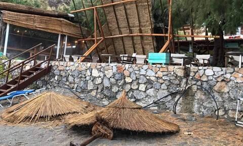 Κακοκαιρία Κίρκη: «Σάρωσε» τη Σούγια της Κρήτης - Εικόνες καταστροφής