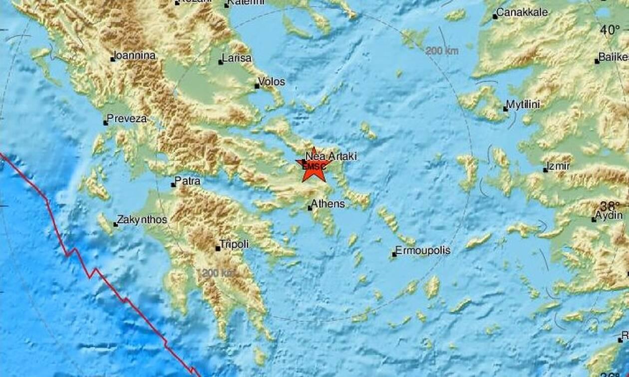 Σεισμός ΤΩΡΑ κοντά στη Χαλκίδα - Αισθητός και στην Αττική
