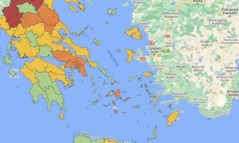 Κορονοϊός: Ποιες περιοχές ανεβαίνουν επίπεδο συναγερμού – 9 νέες ΠΕ στο «πορτοκαλί»