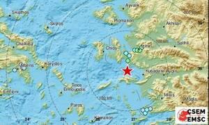 Ισχυρός σεισμός 6,6 Ρίχτερ μεταξύ Σάμου και Χίου - Αισθητός μέχρι την Αθήνα