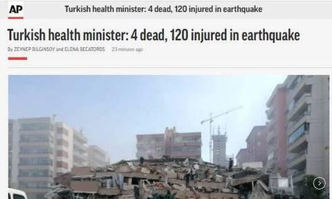 Σεισμός στη Σάμο: Τι γράφουν τα διεθνή ΜΜΕ για το χτύπημα του Εγκέλαδου σε Ελλάδα και Τουρκία
