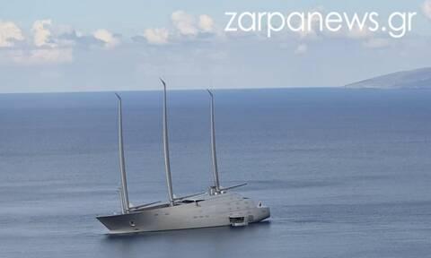 Απίστευτο! Το «διαστημικό» γιοτ των 400.000.000 ευρώ στην Κρήτη (pics)