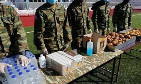 Σεισμός Σάμος: Στο πλευρό των πληγέντων ο Στρατός Ξηράς – Σκηνές, φαγητό και μέσα