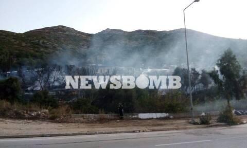 Σάμος: Έσβησε η φωτιά στον καταυλισμό προσφύγων - Μάχη της Πυροσβεστικής