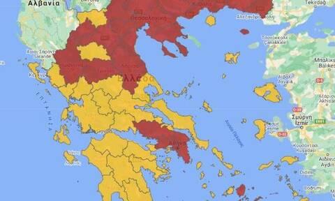 Κορονοϊός: Σε τρεις ζώνες χωρίζεται η Ελλάδα - Στο «κόκκινο» και η Μαγνησία