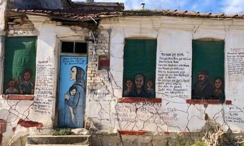 Ο 71χρονος «γκραφιτάς» που γέμισε με ζωγραφιές χωριό στην Πιερία (photos)