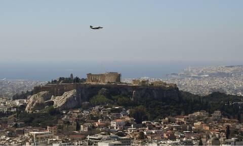 Πολεμική Αεροπορία: Τιμή και δόξα στα ελληνικά «φτερά» - Μαχητικά πάνω από την Αθήνα