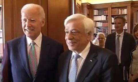 Η επίσκεψη Μπάιντεν στην Αθήνα και η συνάντησή του με τον τότε Πρόεδρο της Δημοκρατίας