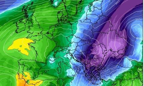 Καιρός: Σενάριο σοβαρής ψυχρής εισβολής με χιόνια ακόμα και στα πεδινά...