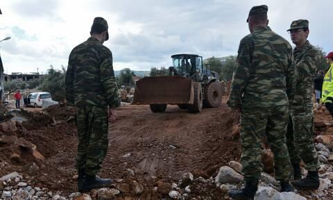 Στρατός Ξηράς: Πάντα δίπλα στους πολίτες – Προσωπικό, μέσα και φαγητό στους πλημμυροπαθείς