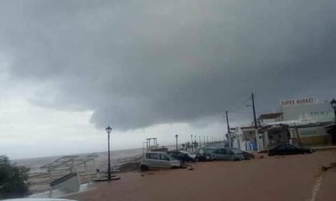 Κρήτη - Κακοκαιρία : Έφτασε τα 100 χιλιοστά το ύψος βροχής - Πότε υποχωρούν τα φαινόμενα