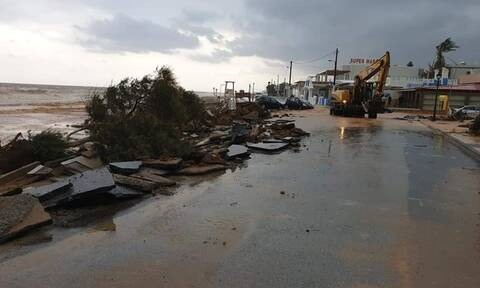 Κακοκαιρία Κρήτη: Σε κατάσταση έκτακτης ανάγκης οι Δημοτικές Ενότητες Καστελλίου και Θραψανού