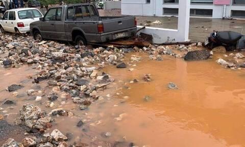 Κακοκαιρία: «Βούλιαξε» η Κρήτη - Σε λιγότερες από 24 ώρες έριξε την βροχή ενός έτους στα Μάλια