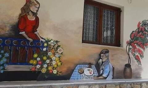 Χαλκιδική: Με ζωγραφισμένους τοίχους κόντρα στη μουντάδα του lockdown (pics)