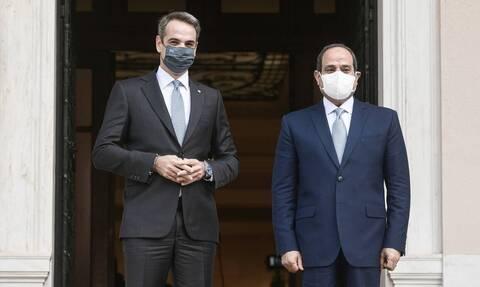Президент Египта пребывает с официальным визитом в Афинах
