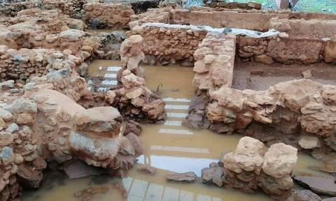 Κακοκαιρία - Κρήτη: Πλημμύρισε ο αρχαιολογικός χώρος στα Μάλια