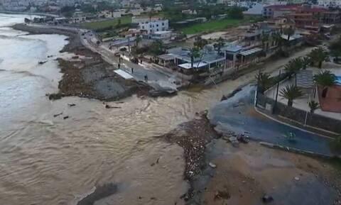 Κακοκαιρία - Γούβες: Εικόνες από drone αποτυπώνουν το μέγεθος της καταστροφής