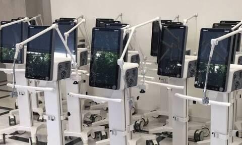 Η ΓΙΩΤΗΣ Α.Ε. παρέδωσε στο Υπουργείο Υγείας 20 αναπνευστήρες υψηλής τεχνολογίας για τις ΜΕΘ