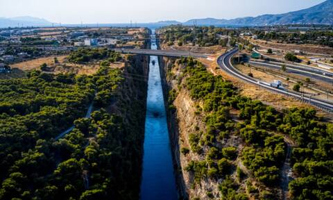 Landslide at the Corinth Canal; restoration works to conclude on Saturday