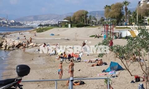 Ρεπορτάζ Newsbomb.gr - Lockdown: Δείτε τι γίνεται σε παραλία του Φαλήρου - Νοέμβριος όπως... Ιούνιος