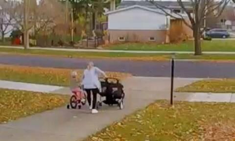 Απίθανη... σούπερ μαμά! Εσωσε τα τρία παιδιά της από σοκαριστικό ατύχημα (vid)