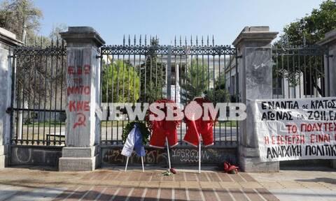 Εορτασμοί Πολυτεχνείου: Παρέμβαση αντιεξουσιαστών - Ανάρτησαν πανό