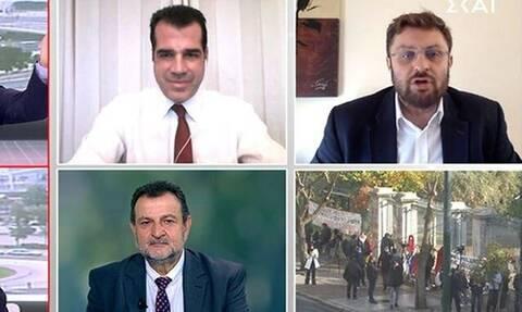 Χαμός στον ΣΚΑΙ: Καυγάς Πλεύρη-Ζαχαριάδη και ο εκνευρισμός Οικονόμου (video)