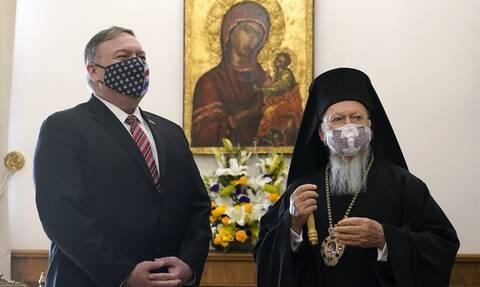 Πομπέο για συνάντηση με Βαρθολομαίο: Υποστηρίζουμε τη θρησκευτική ελευθερία