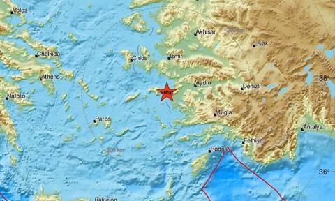 Σεισμός κοντά στη Σάμο