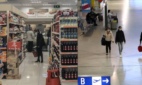 Ποια είδη επιτρέπεται να πωλούν πλέον τα σούπερ μάρκετ - Ανοίγουν τα καταστήματα στα αεροδρόμια
