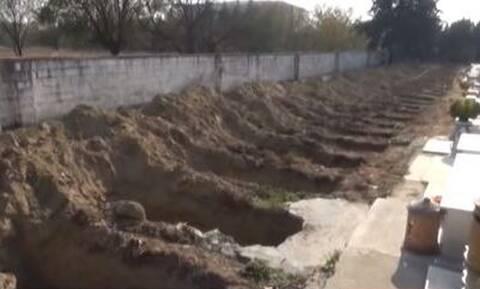 Κορονοϊός Σέρρες: Προετοιμάζονται για τα χειρότερα – Έσκαψαν 35 τάφους