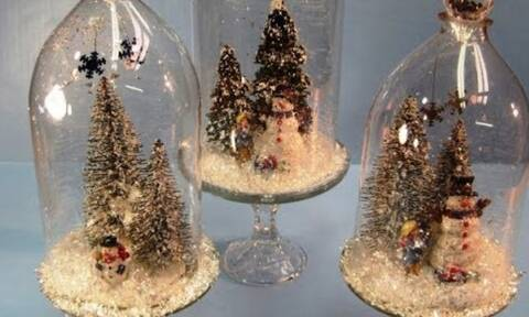 Φτιάξτε χριστουγεννιάτικα διακοσμητικά με πλαστικά μπουκάλια