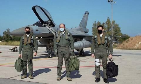 Πολεμική Αεροπορία: Μάχιμος ο Αρχηγός ΓΕΑ! Πέταξε με F-16 ο Γ.Μπλιούμης - Εντυπωσιακές εικόνες