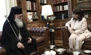 Президент Греции Экатерина Сакелларопулу пожелала Архиепископу Иерониму скорейшего выздоровления