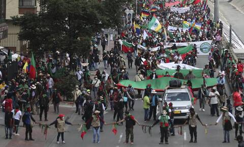 Κολομβία: Κινητοποιήσεις σε όλη τη χώρα εναντίον της πολιτικής του προέδρου Ντούκε