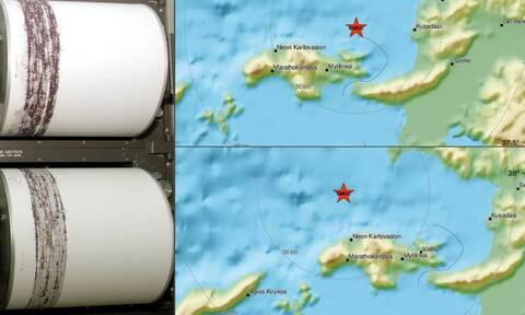 Διπλός σεισμός τα ξημερώματα στη Σάμο