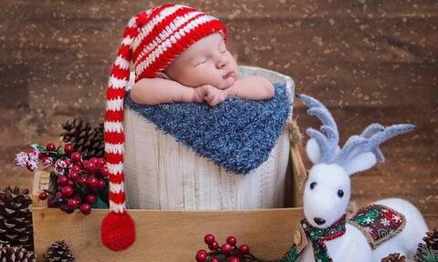 Χριστουγεννιάτικες φωτογραφίες με μωρά